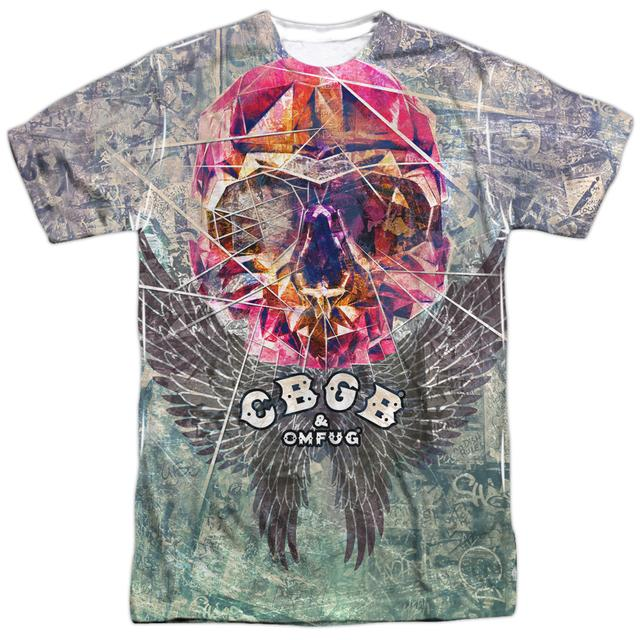 CBGB Shirt   GRAFFITI SKULL (FRONT/BACK PRINT) Tee