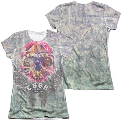 CBGB Junior's Shirt | GRAFFITI SKULL (FRONT/BACK PRINT) Junior's Tee