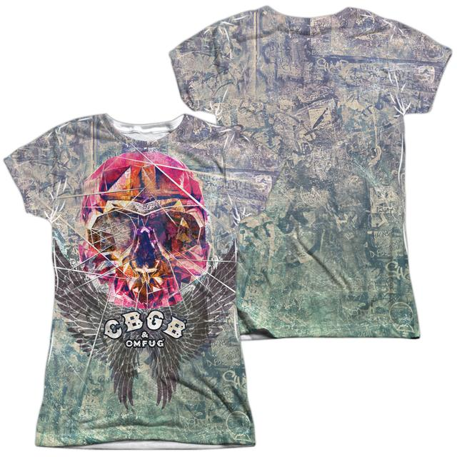 CBGB Junior's T Shirt | GRAFFITI SKULL (FRONT/BACK PRINT) Sublimated Tee