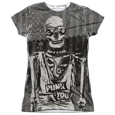 CBGB Junior's T Shirt | PUNK YOU (FRONT/BACK PRINT) Sublimated Tee