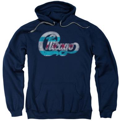 Chicago Hoodie   FLAG LOGO Pull-Over Sweatshirt