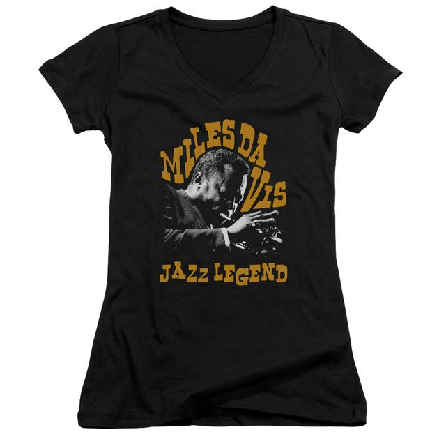 Miles Davis Junior's V-Neck Shirt | JAZZ LEGEND Junior's Tee
