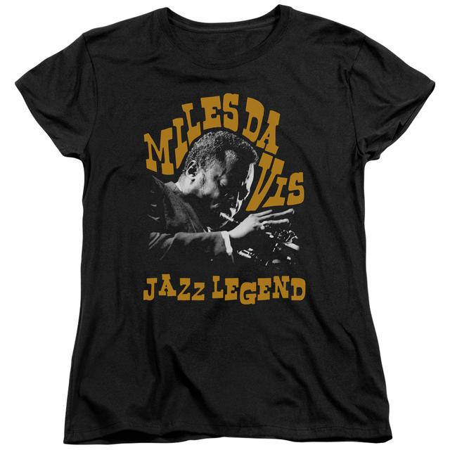 Miles Davis Women's Shirt | JAZZ LEGEND Ladies Tee