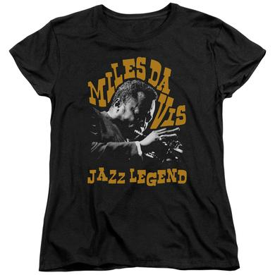 Miles Davis Women's Shirt | JAZZ LEGEND Ladies Tee