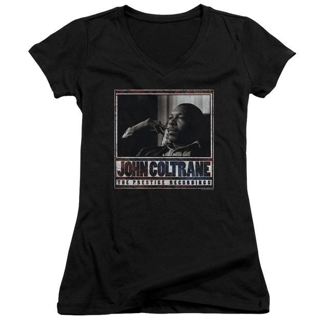 John Coltrane Junior's V-Neck Shirt   PRESTIGE RECORDINGS Junior's Tee