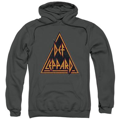 Def Leppard Hoodie | DISTRESSED LOGO Pull-Over Sweatshirt