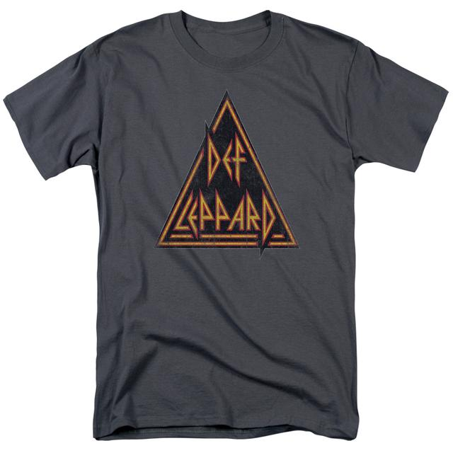 Def Leppard Shirt | DISTRESSED LOGO T Shirt