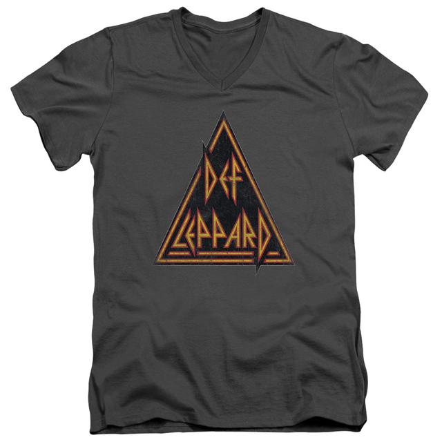 Def Leppard T Shirt (Slim Fit) | DISTRESSED LOGO Slim-fit Tee
