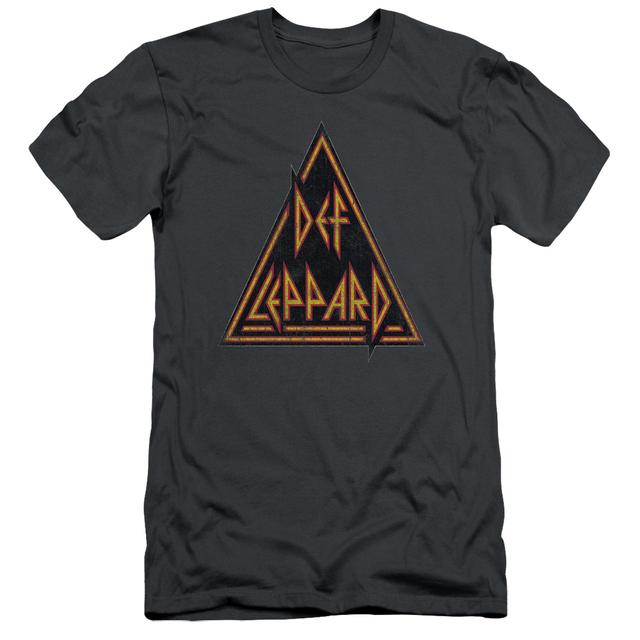 Def Leppard Slim-Fit Shirt | DISTRESSED LOGO Slim-Fit Tee