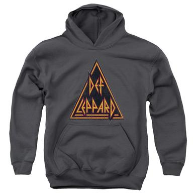 Def Leppard Youth Hoodie | DISTRESSED LOGO Pull-Over Sweatshirt