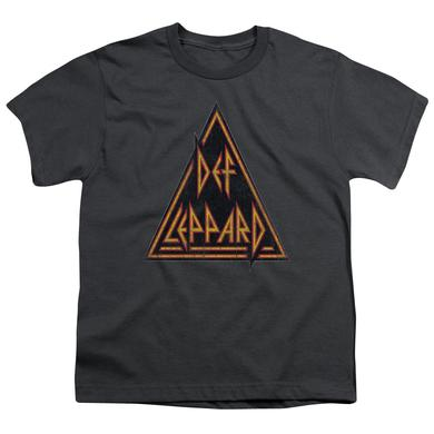 Def Leppard Youth Tee | DISTRESSED LOGO Youth T Shirt