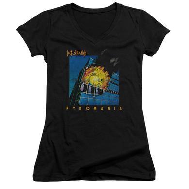 Def Leppard Junior's V-Neck Shirt | PYROMANIA Junior's Tee
