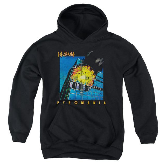 Def Leppard Youth Hoodie | PYROMANIA Pull-Over Sweatshirt