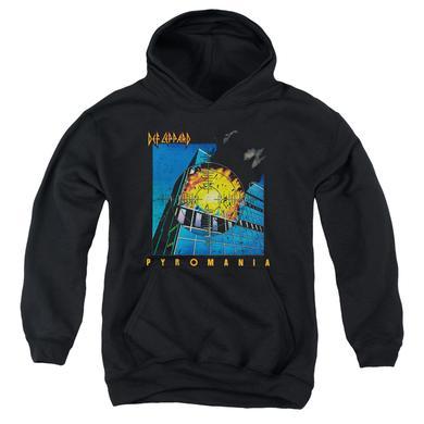 Def Leppard Youth Hoodie | PYROMANIA Pull-Over Sweatshirt