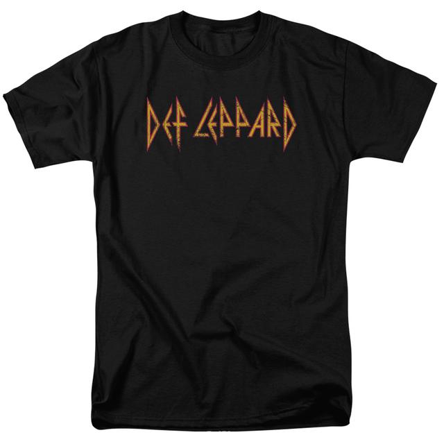 Def Leppard Shirt | HORIZONTAL LOGO T Shirt