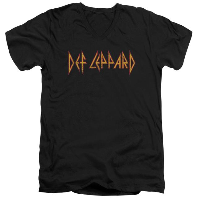 Def Leppard T Shirt (Slim Fit) | HORIZONTAL LOGO Slim-fit Tee