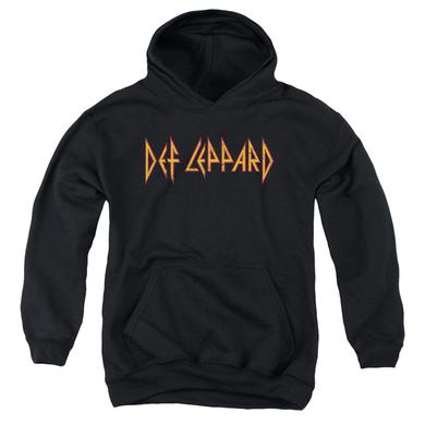 Def Leppard Youth Hoodie | HORIZONTAL LOGO Pull-Over Sweatshirt