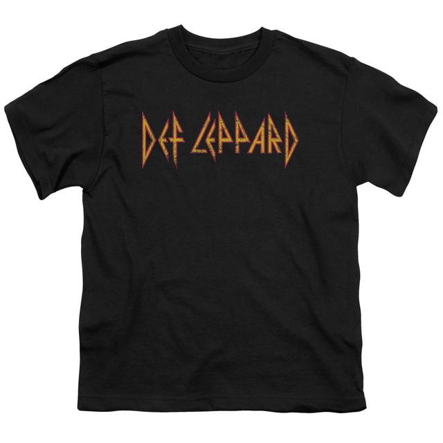Def Leppard Youth Tee | HORIZONTAL LOGO Youth T Shirt