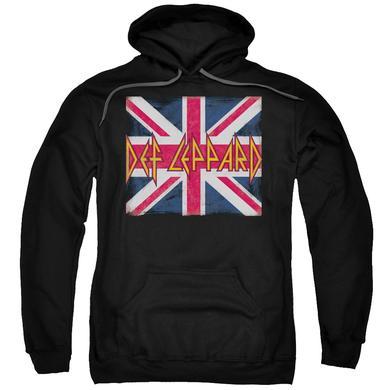 Def Leppard Hoodie | UNION JACK Pull-Over Sweatshirt