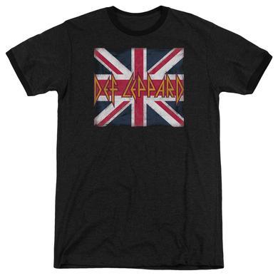Def Leppard Shirt | UNION JACK Premium Ringer Tee
