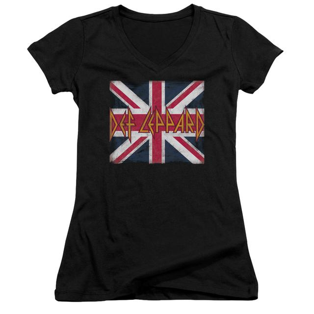 Def Leppard Junior's V-Neck Shirt | UNION JACK Junior's Tee