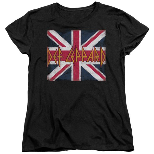 Def Leppard Women's Shirt | UNION JACK Ladies Tee