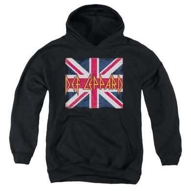Def Leppard Youth Hoodie | UNION JACK Pull-Over Sweatshirt