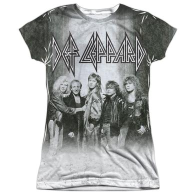 Def Leppard Junior's T Shirt | THE BAND (FRONT/BACK PRINT) Sublimated Tee