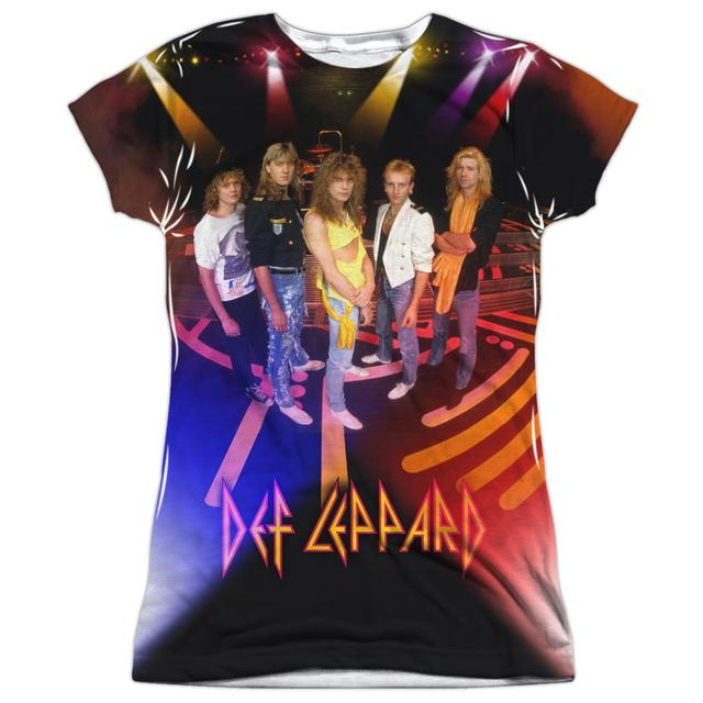 Def Leppard Junior's T Shirt | ON STAGE (FRONT/BACK PRINT) Sublimated Tee