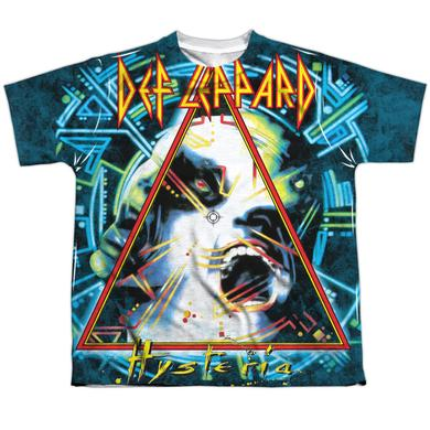 Def Leppard Youth Shirt | HYSTERIA (FRONT/BACK PRINT) Sublimated Tee
