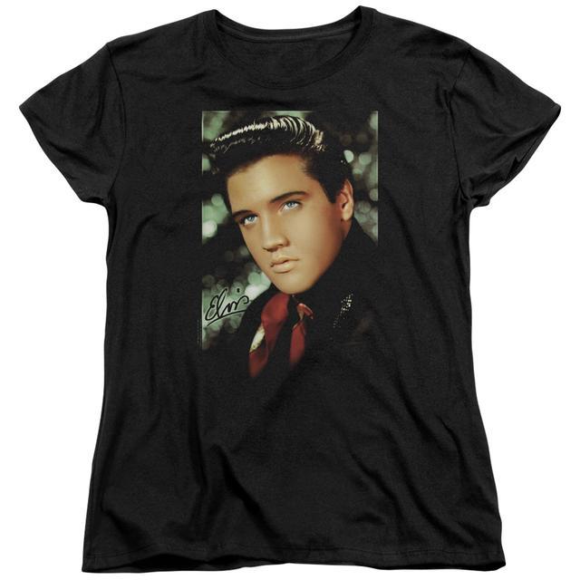 Elvis Presley Women's Shirt | RED SCARF Ladies Tee