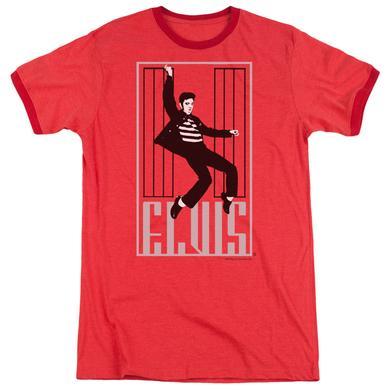Elvis Presley Shirt | ONE JAILHOUSE Premium Ringer Tee