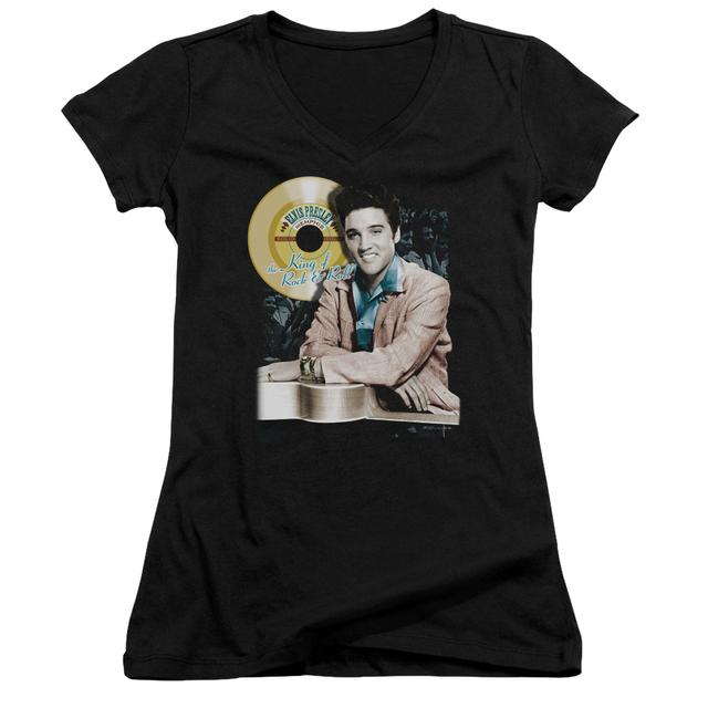Elvis Presley Junior's V-Neck Shirt | GOLD RECORD Junior's Tee