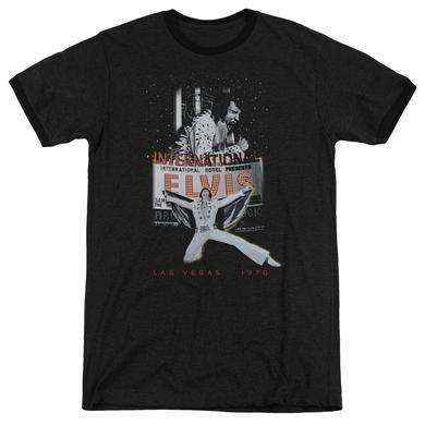 Elvis Presley Shirt | LAS VEGAS Premium Ringer Tee