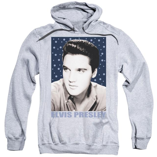 Elvis Presley Hoodie | BLUE SPARKLE Pull-Over Sweatshirt
