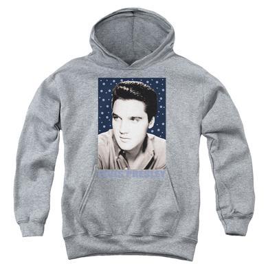 Elvis Presley Youth Hoodie | BLUE SPARKLE Pull-Over Sweatshirt
