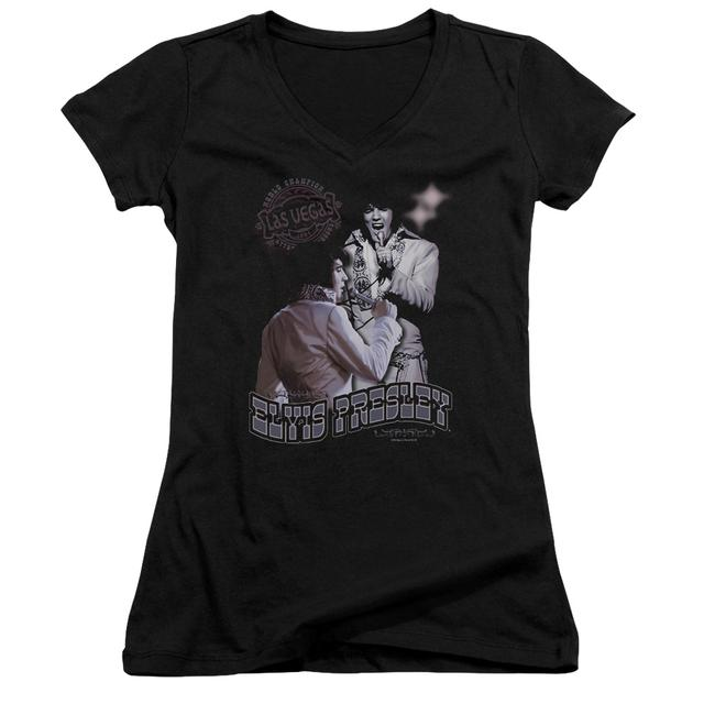 Elvis Presley Junior's V-Neck Shirt | VIOLET VEGAS Junior's Tee