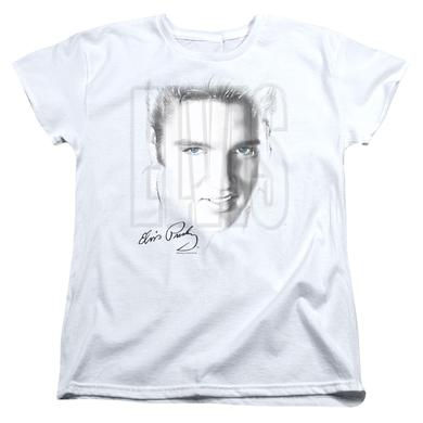 Elvis Presley Women's Shirt | BLUE EYES Ladies Tee