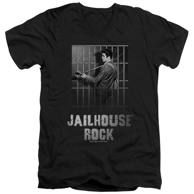 Elvis Presley T Shirt (Slim Fit) | JAILHOUSE ROCK Slim-fit Tee