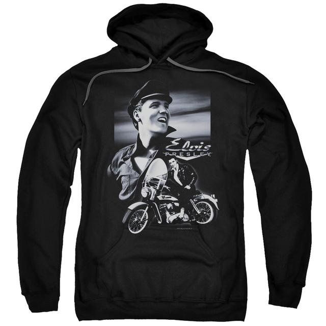 Elvis Presley Hoodie | MOTORCYCLE Pull-Over Sweatshirt
