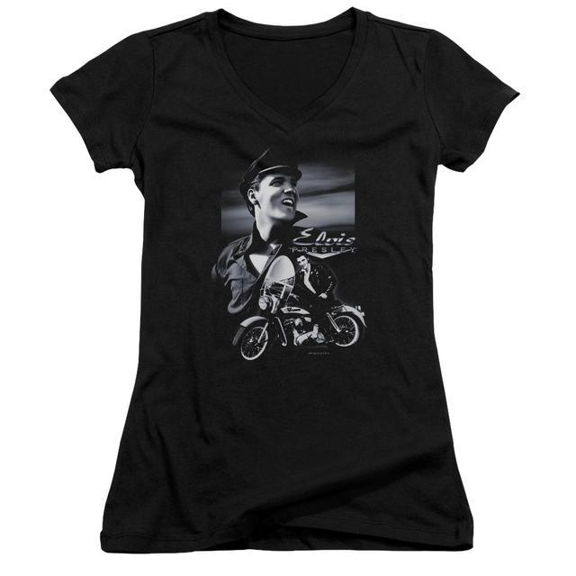 Elvis Presley Junior's V-Neck Shirt | MOTORCYCLE Junior's Tee