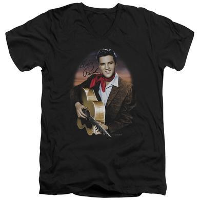 Elvis Presley T Shirt (Slim Fit)   RED SCARF #2 Slim-fit Tee