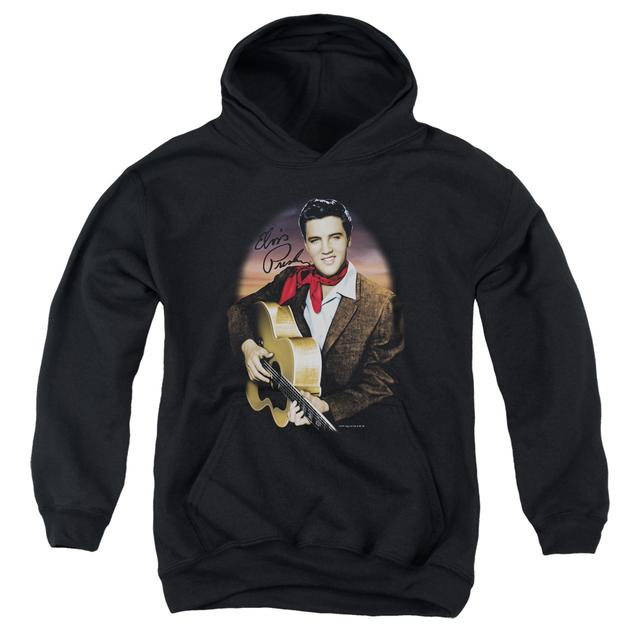 Elvis Presley Youth Hoodie | RED SCARF #2 Pull-Over Sweatshirt