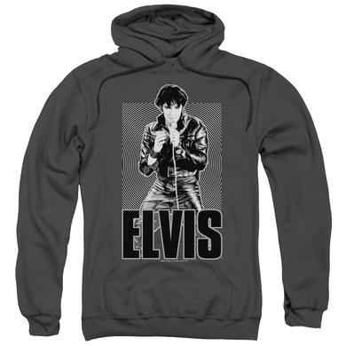 Elvis Presley Hoodie | LEATHER Pull-Over Sweatshirt