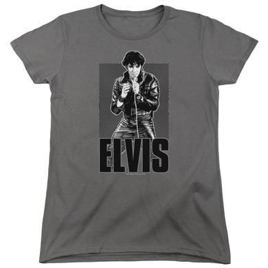 Elvis Presley Women's Shirt | LEATHER Ladies Tee
