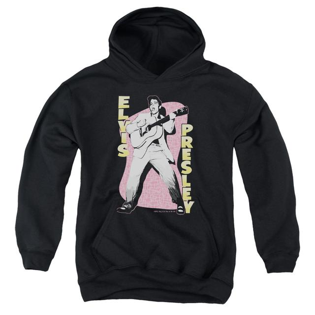 Elvis Presley Youth Hoodie | PINK ROCK Pull-Over Sweatshirt
