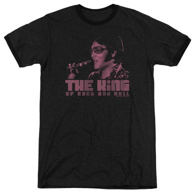 Elvis Presley Shirt | THE KING Premium Ringer Tee