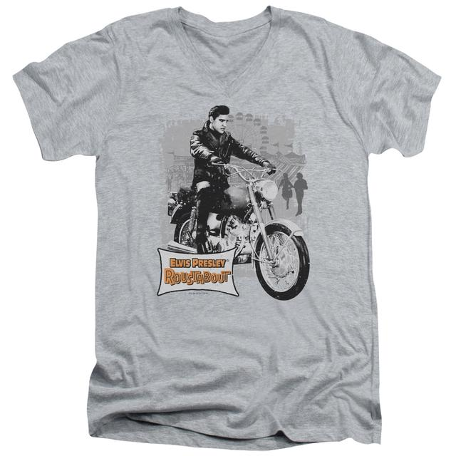 Elvis Presley T Shirt (Slim Fit) | ROUSTABOUT POSTER Slim-fit Tee