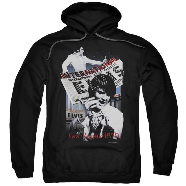 Elvis Presley Hoodie | INTERNATIONAL HOTEL Pull-Over Sweatshirt