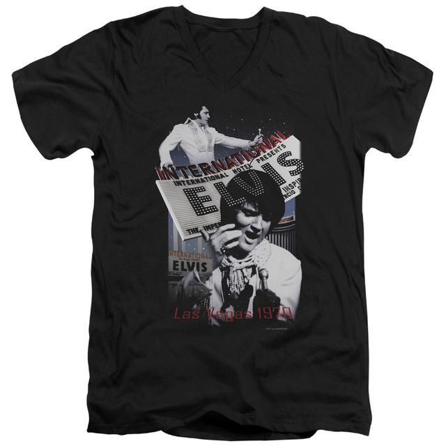 Elvis Presley T Shirt (Slim Fit) | INTERNATIONAL HOTEL Slim-fit Tee
